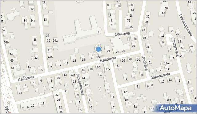 Toruń, Kalinowa, 19, mapa Torunia