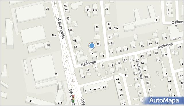 Toruń, Kalinowa, 1a, mapa Torunia