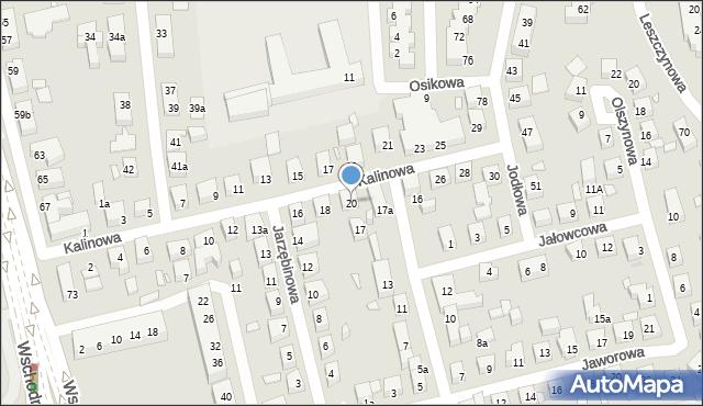 Toruń, Kalinowa, 20, mapa Torunia