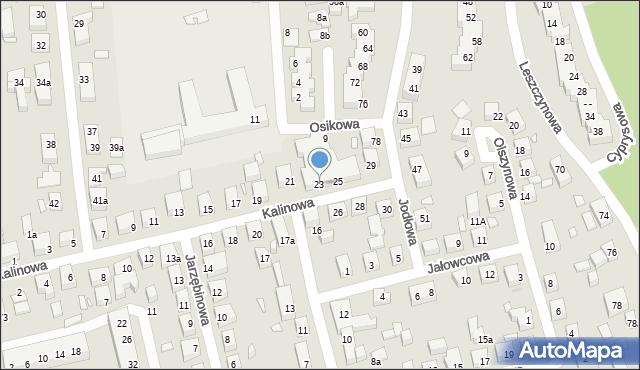Toruń, Kalinowa, 23, mapa Torunia