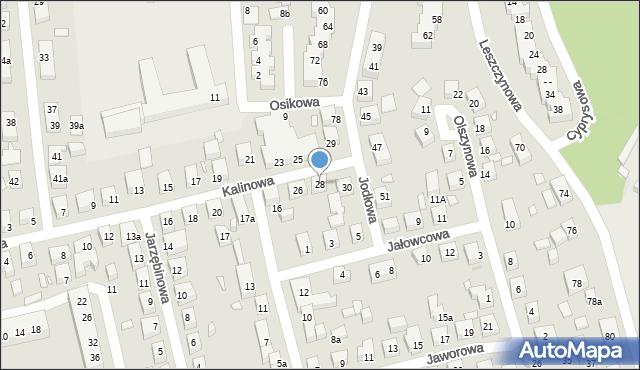 Toruń, Kalinowa, 28, mapa Torunia