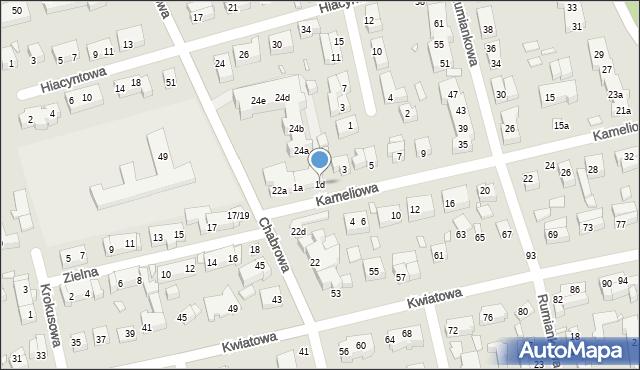 Toruń, Kameliowa, 1d, mapa Torunia