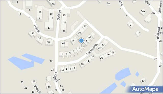 Toruń, Kamienna, 13, mapa Torunia