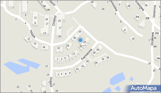 Toruń, Kamienna, 15, mapa Torunia