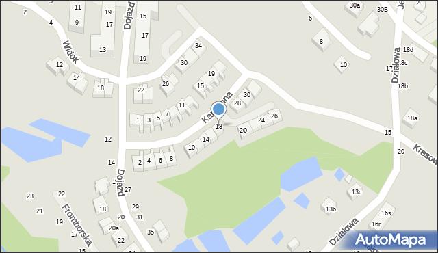 Toruń, Kamienna, 18, mapa Torunia