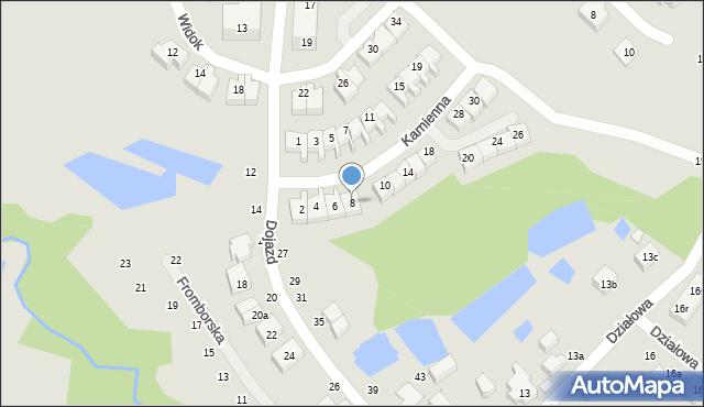 Toruń, Kamienna, 8, mapa Torunia