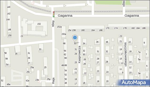 Toruń, Kasprowicza Jana, 33, mapa Torunia