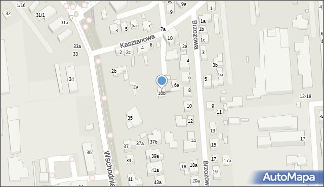 Toruń, Kasztanowa, 10b, mapa Torunia