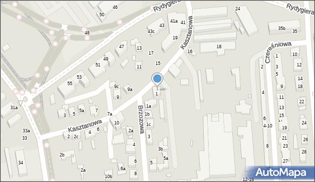Toruń, Kasztanowa, 14, mapa Torunia