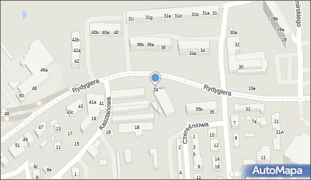 Toruń, Kasztanowa, 24, mapa Torunia