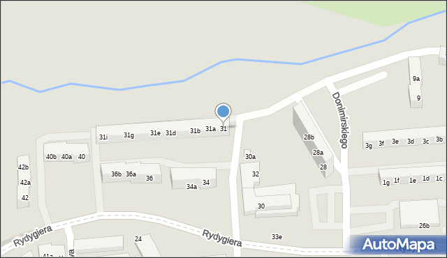 Toruń, Kasztanowa, 31, mapa Torunia