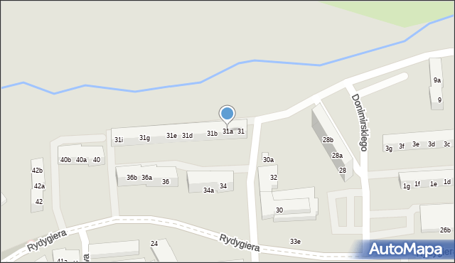 Toruń, Kasztanowa, 31a, mapa Torunia