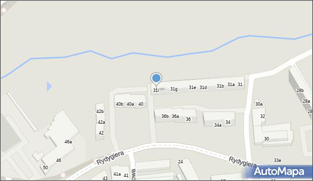 Toruń, Kasztanowa, 31i, mapa Torunia