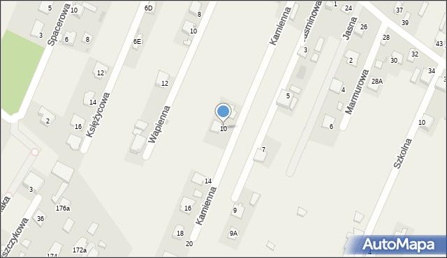 Wacyn, Kamienna, 10, mapa Wacyn