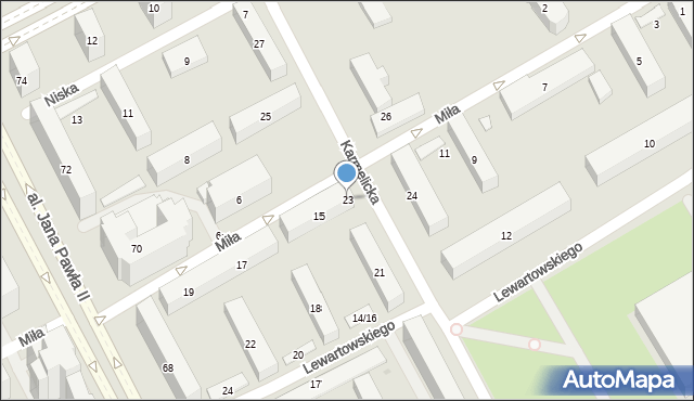 Warszawa, Karmelicka, 23, mapa Warszawy
