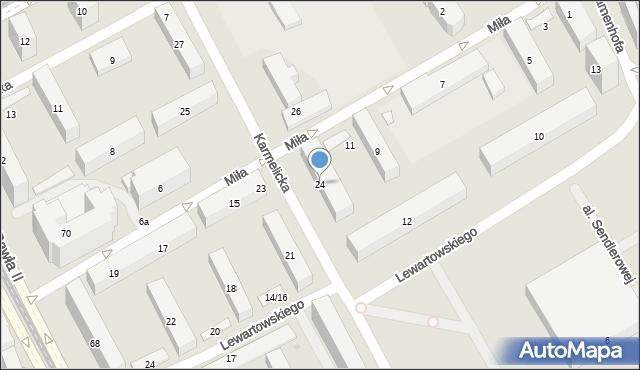 Warszawa, Karmelicka, 24, mapa Warszawy
