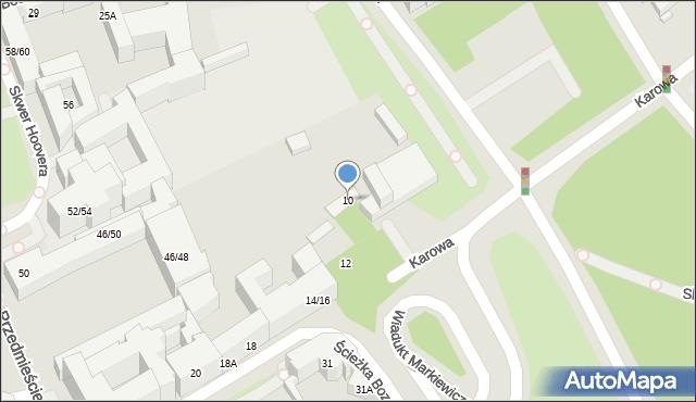 Warszawa, Karowa, 10, mapa Warszawy