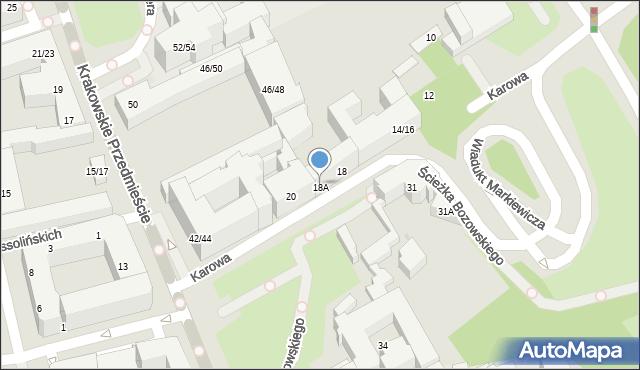 Warszawa, Karowa, 18A, mapa Warszawy