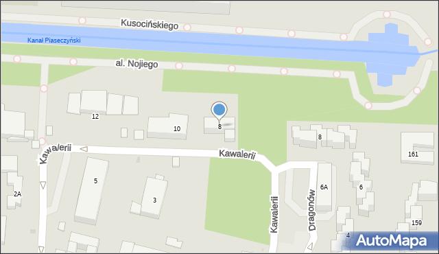 Warszawa, Kawalerii, 8, mapa Warszawy