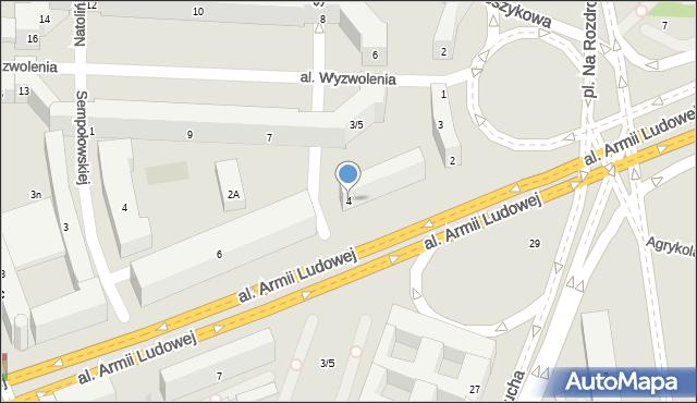 Warszawa, Kaczyńskiego Lecha, 4, mapa Warszawy