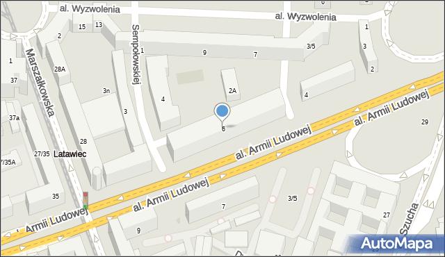 Warszawa, Kaczyńskiego Lecha, 6, mapa Warszawy