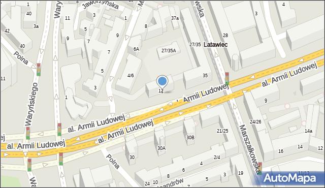Warszawa, Kaczyńskiego Lecha, 13a, mapa Warszawy