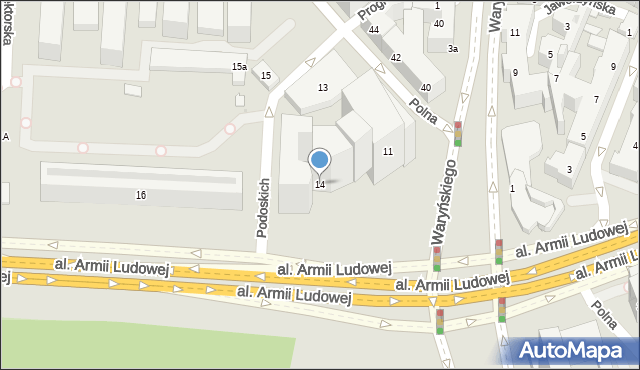 Warszawa, Kaczyńskiego Lecha, 14, mapa Warszawy