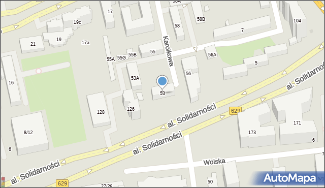Warszawa, Karolkowa, 53, mapa Warszawy