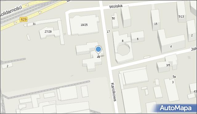 Warszawa, Karolkowa, 49, mapa Warszawy