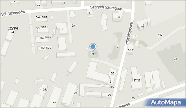 Warszawa, Karolkowa, 7a, mapa Warszawy