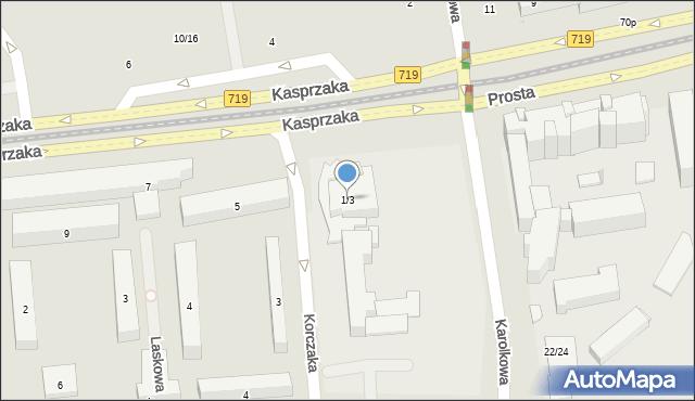Warszawa, Kasprzaka Marcina, 1/3, mapa Warszawy