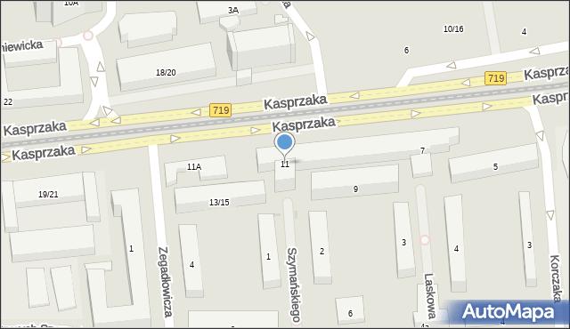 Warszawa, Kasprzaka Marcina, 11, mapa Warszawy