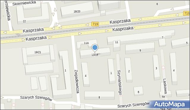Warszawa, Kasprzaka Marcina, 13/15, mapa Warszawy