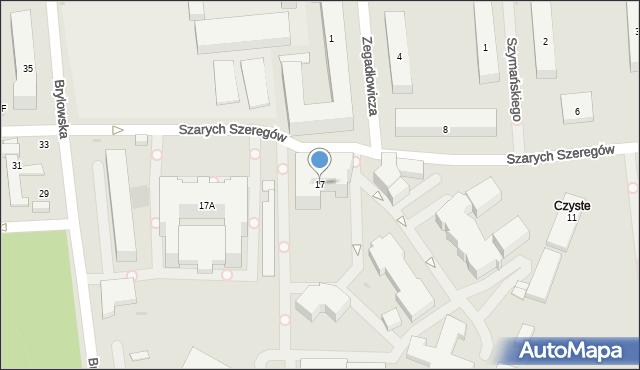 Warszawa, Kasprzaka Marcina, 17, mapa Warszawy