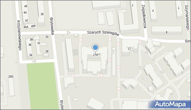 Warszawa, Kasprzaka Marcina, 17A, mapa Warszawy