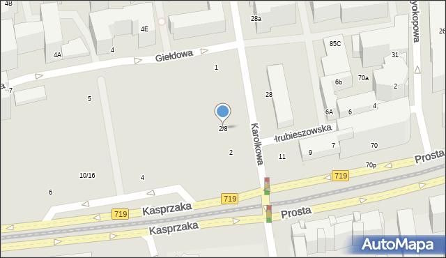 Warszawa, Kasprzaka Marcina, 2/8, mapa Warszawy