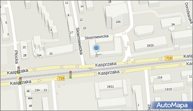 Warszawa, Kasprzaka Marcina, 22, mapa Warszawy