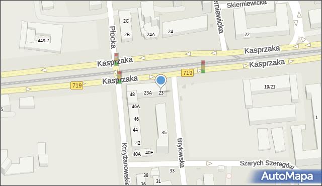 Warszawa, Kasprzaka Marcina, 23, mapa Warszawy