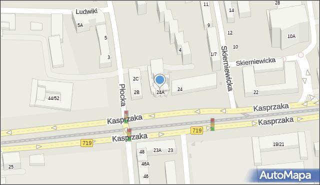 Warszawa, Kasprzaka Marcina, 24A, mapa Warszawy