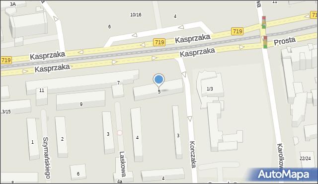 Warszawa, Kasprzaka Marcina, 5, mapa Warszawy