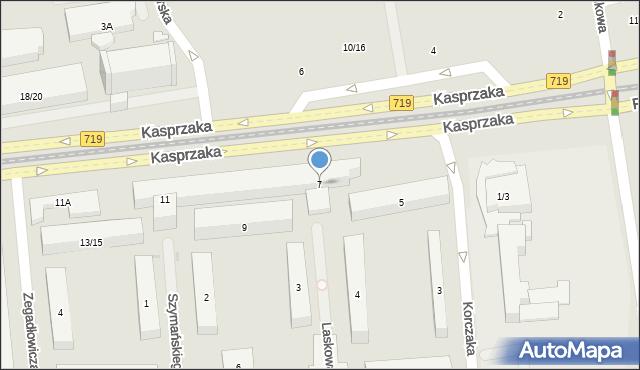 Warszawa, Kasprzaka Marcina, 7, mapa Warszawy