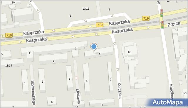 Warszawa, Kasprzaka Marcina, 7u, mapa Warszawy