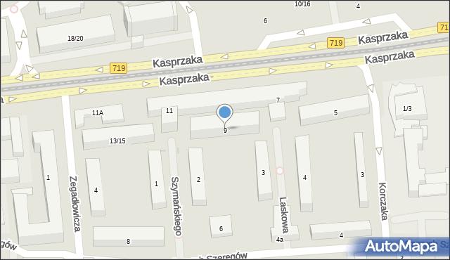 Warszawa, Kasprzaka Marcina, 9, mapa Warszawy