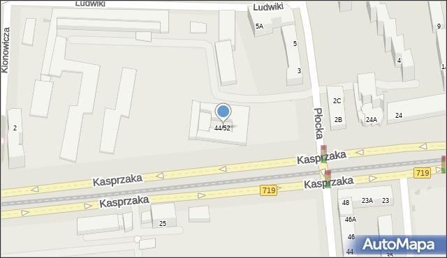 Warszawa, Kasprzaka Marcina, 44/52, mapa Warszawy