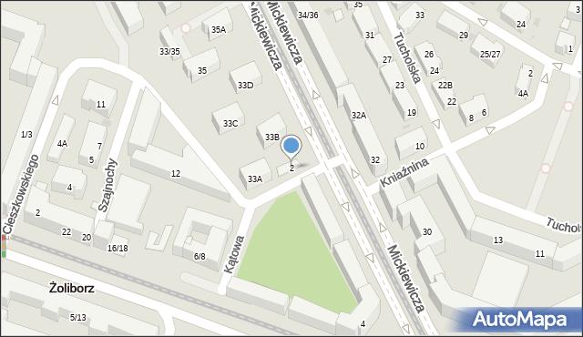 Warszawa, Kątowa, 2, mapa Warszawy
