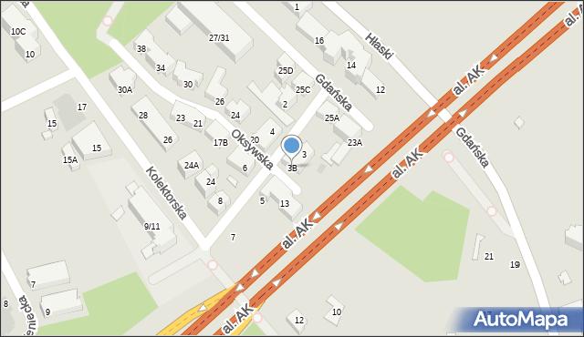 Warszawa, Kaskadowa, 3B, mapa Warszawy