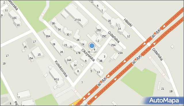 Warszawa, Kaskadowa, 4B, mapa Warszawy
