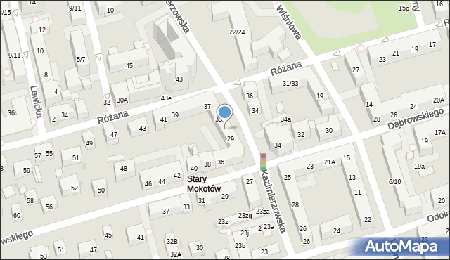 Warszawa, Kazimierzowska, 31, mapa Warszawy