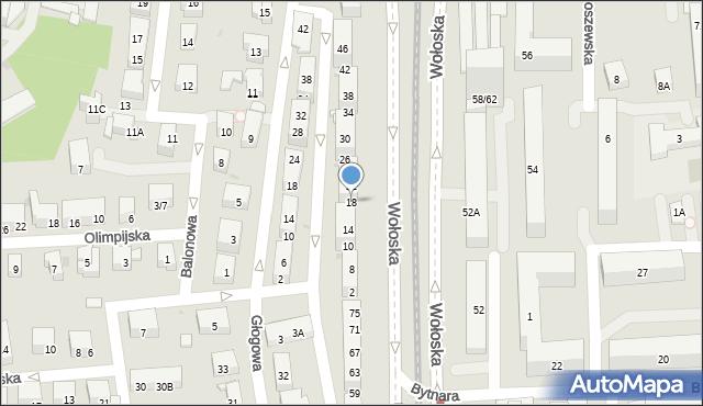 Warszawa, Karolinki, 18, mapa Warszawy