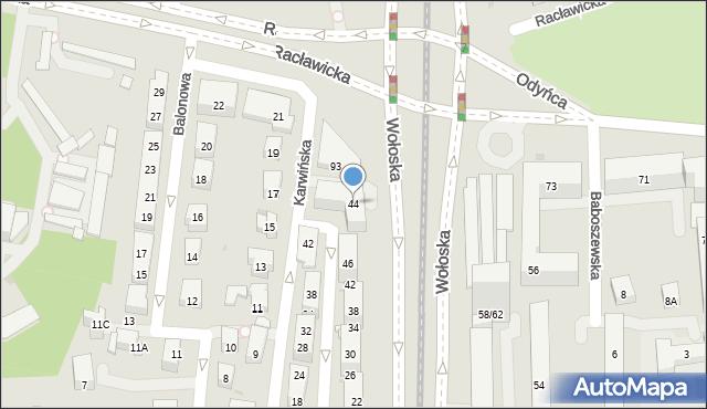 Warszawa, Karwińska, 44, mapa Warszawy